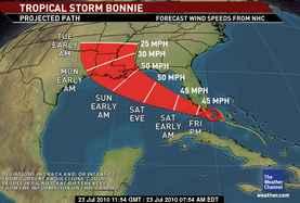 Troipcal Storm Bonnie threatens Florida