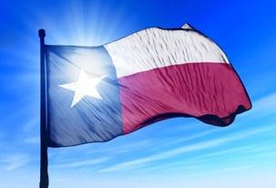 Texas (USA) flag waving on the wind © Lulla
