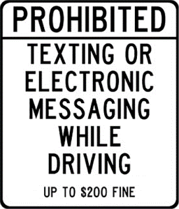 Distracted Texting Sign