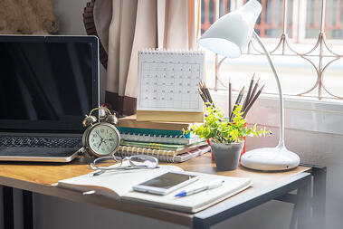 bigstock-Diary-And-Book-On-School-Table-309061486