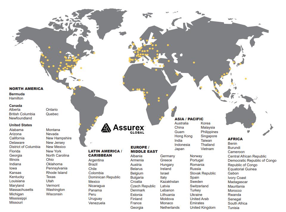 assurax global map