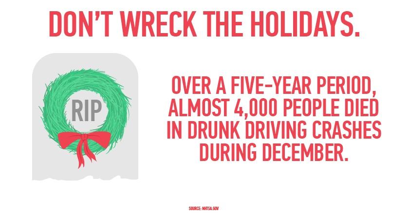 NHTSA Don't wreck the Holidays.jpg